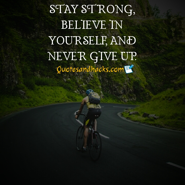 Never give up quotes