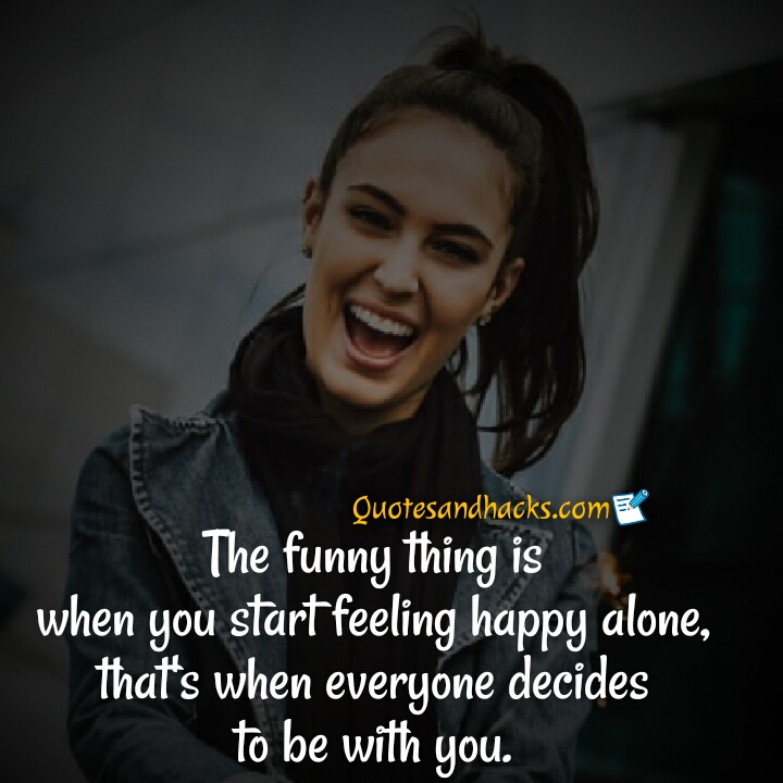 alone happy quotes