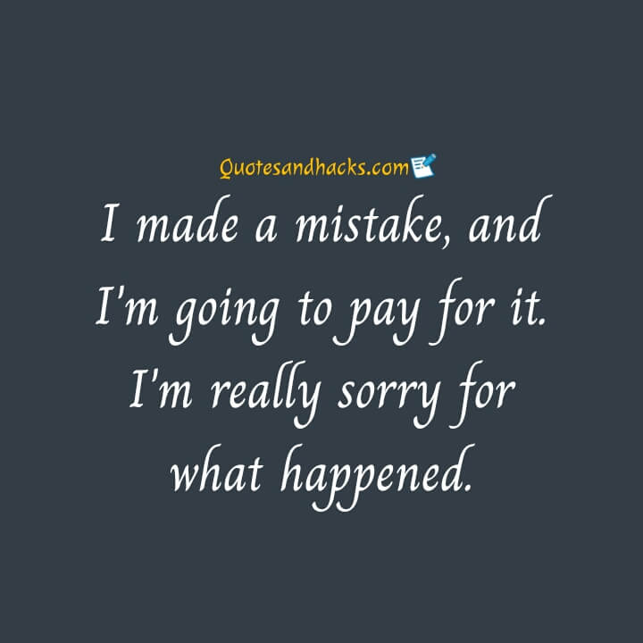 Sorry quotes for love
