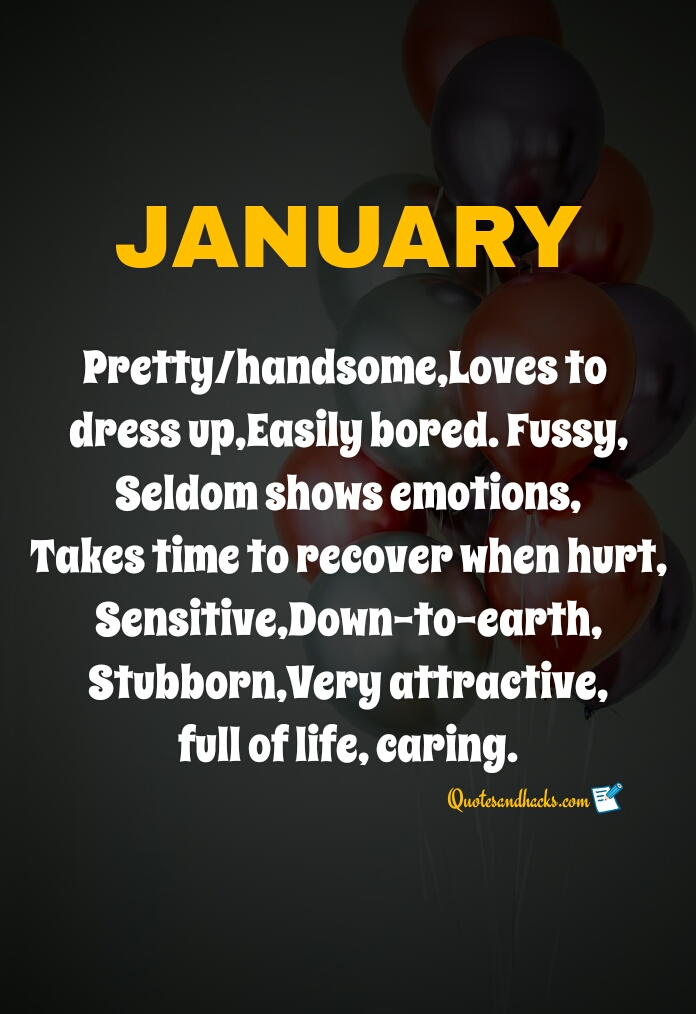 January birthday month quotes