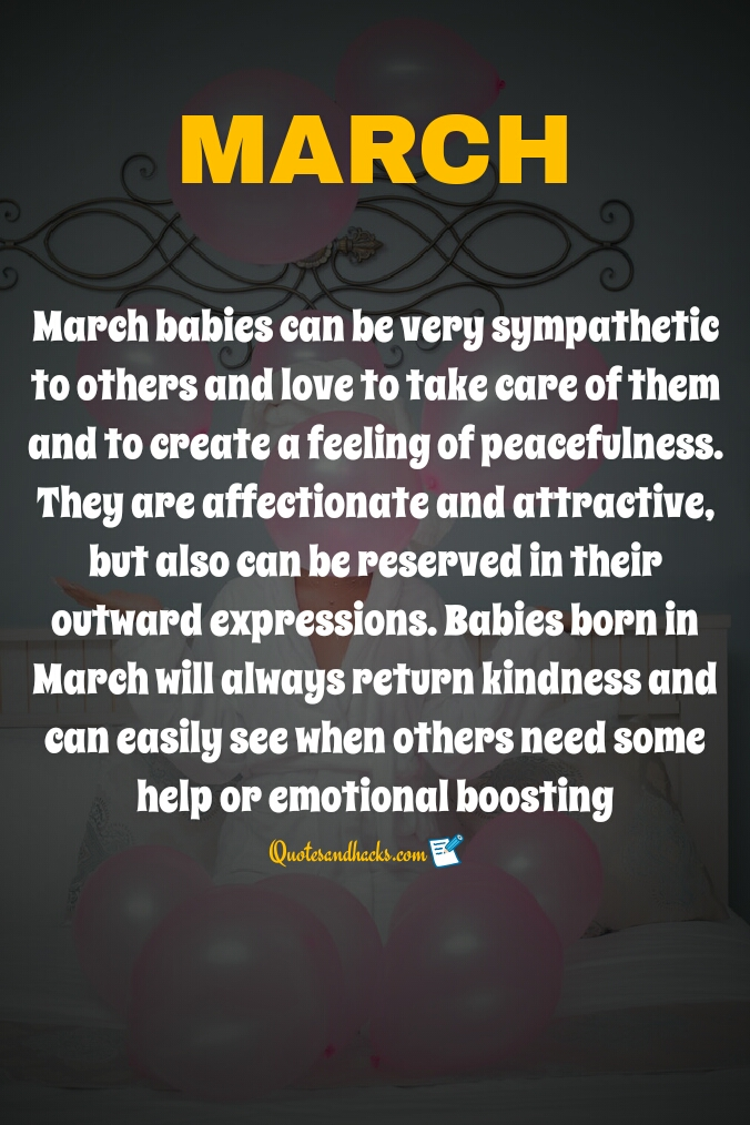 Birthday month march quotes