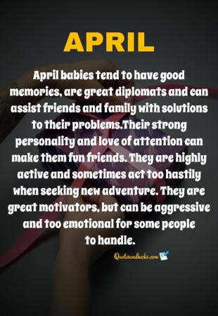 April month birthday quotes