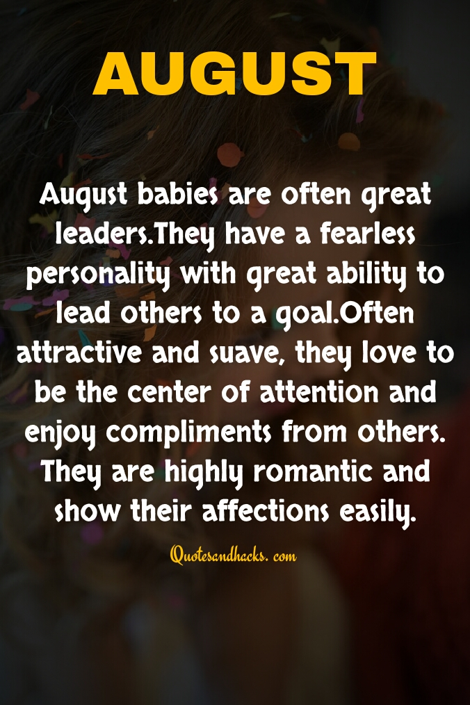 August birthday month quotes
