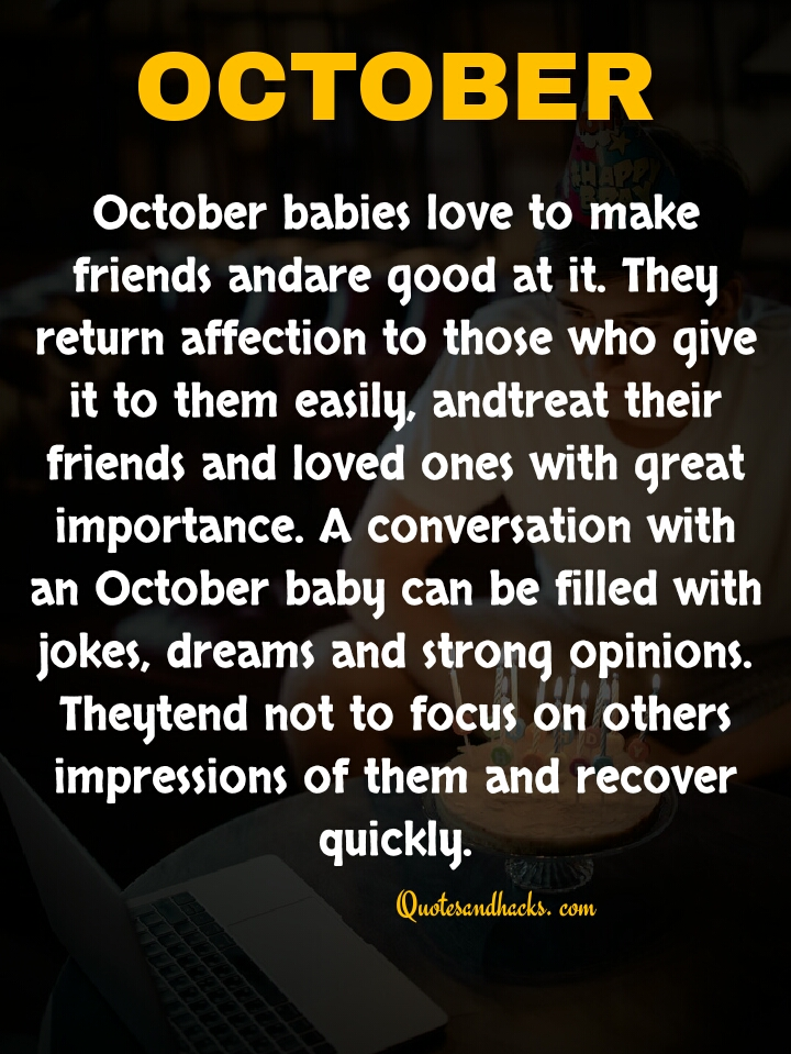 October my birthday month quotes