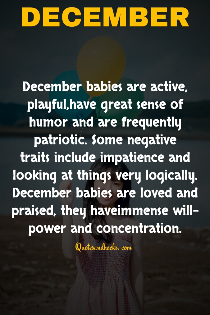 December birthday month quotes coming up