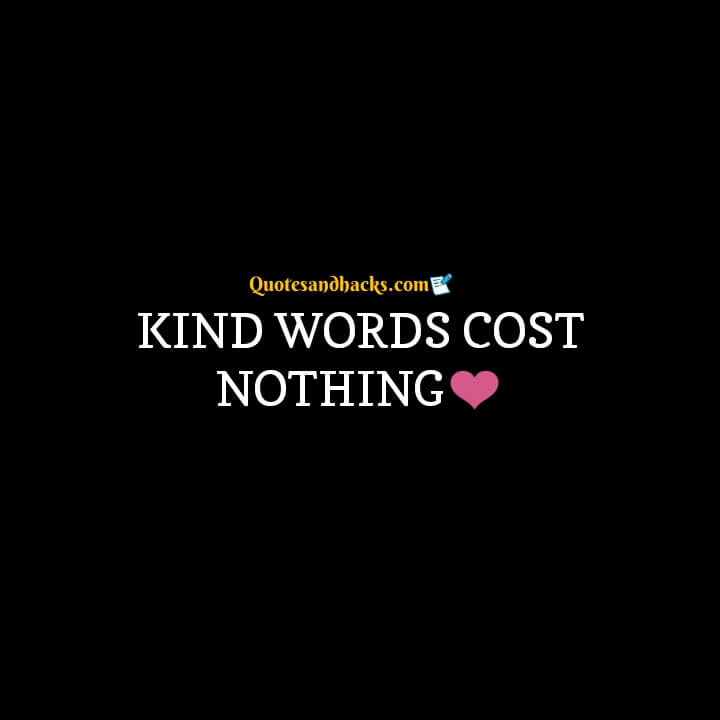 Kind word quotes