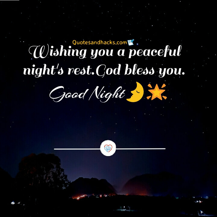 Good night quotes about god