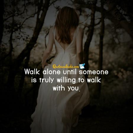 walk alone quotes