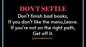 Don't settle quotes